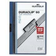 Durable Office Products DuraClip Report Cover 60 Sheet Capacity 11 in. x 8.5 in. DKBlue (SPRCH30932)