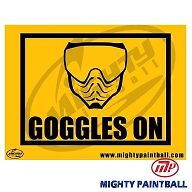 MP - Mighty Products Paintball Safety Sign - Goggles On (MTPC004)