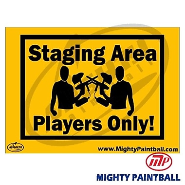MP - Mighty Products Paintball Safety Sign - Staging Area (MTPC013)