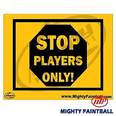 MP - Mighty Products Paintball Safety Sign - Players Only (MTPC014)