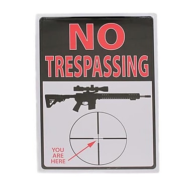 12 in. x 17 in. Tin Sign - Trespassing Youre Here (GS184630)