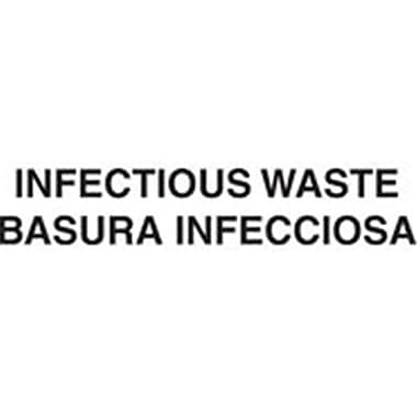 Rubbermaid Commercial Products Infectious Waste Medical Decal, White - 10 x 4 in. (AZTY13219)