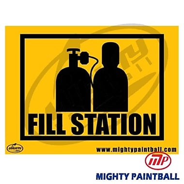 MP - Mighty Products Paintball Safety Sign - Fill Station (MTPC006)