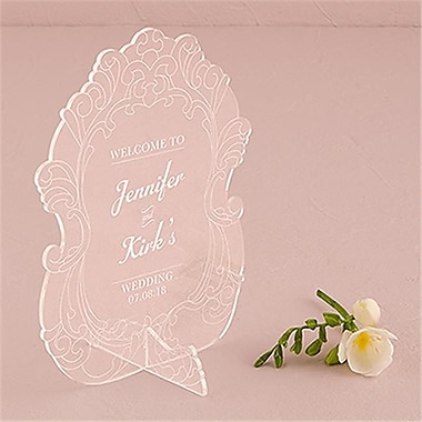 Wedding Star Vintage Romance Acrylic Sign - Personalized (WED9701)