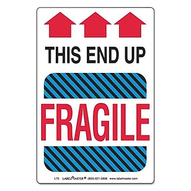 lmt Shipping and Handling Self-Adhesive label, 4 x 6 in., This End Up, Fragile (AZTY09173)