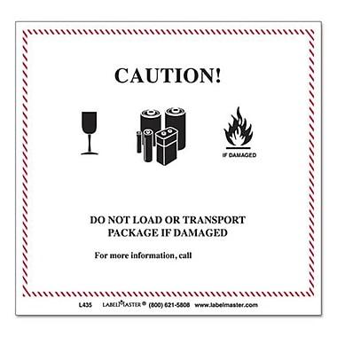 lmt Hazmat Self-Adhesive Shipping label, 4.75 x 4.37 in., Caution (AZTY09169)
