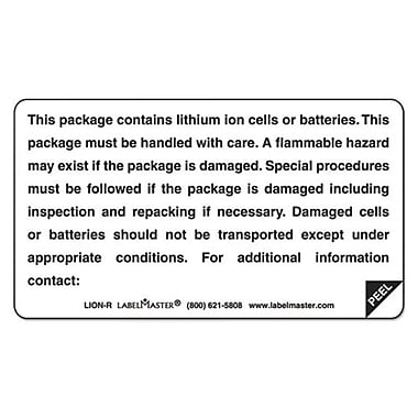 lmt lithium Battery Self-Adhesive label - Contains Batteries (AZTY09177)