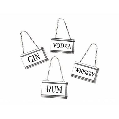 Godinger Rectangular liquor labels, Set of 4 (RTl160872)
