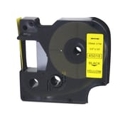 Nextpage Compatible Dymo Tape label- Black On Yellow (SDCZ068)