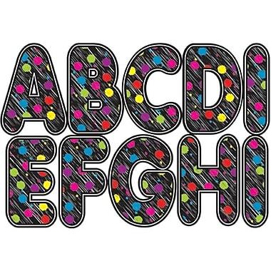 Ashley Productions Black Scribble Chalk Color Dots Magnetic letters (EDRE51052)