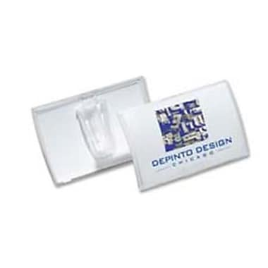 Durable Office Products Click-Fold Convex Badges, Clear - 25 Per Pack (SPRCH48369)