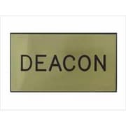 Swanson Christian Supply Badge Deacon Magnetic Gold Black (ANCRD30037)