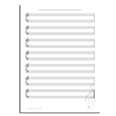Incrediline Sights Of Music - Music Sheet Mural - Incrediwall - 36 Inches x 48 Inches (INCR026)