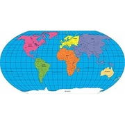 Shapes Practice Map labeled World 30 Sheet- 8 x 16 (EDRE33563)