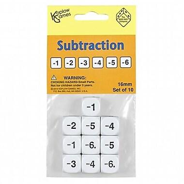 Koplow Games Inc. Subtraction Dice Set Of 10 (EDRE49909)