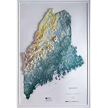 Hubbard Scientific Raised Relief Map Maine State Map (AMED1923)