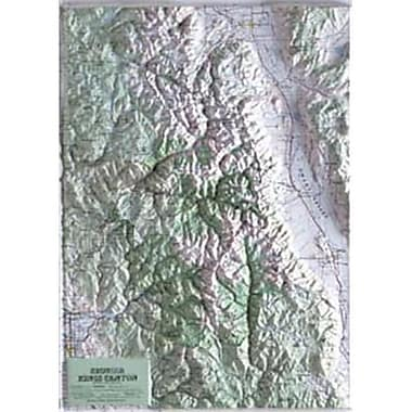 Hubbard Scientific Raised Relief Map Sequoia-Kings Canyon National Park (AMED1962)