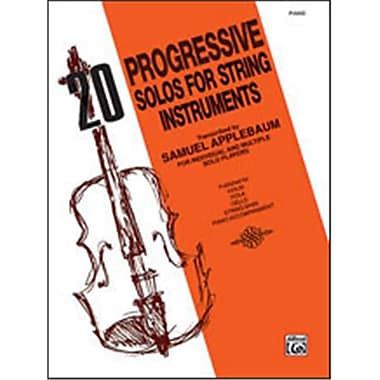 Alfred 20 Progressive Solos for String Instruments - Music Book (AlFRD46827)