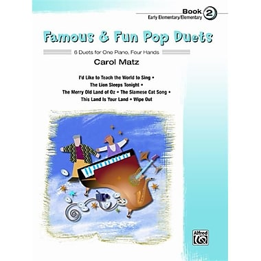 Alfred Famous and Fun Pop Duets- Book 2 - Music Book (AlFRD43825)