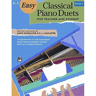 Alfred Easy Classical Piano Duets for Teacher and Student- Book 3 - Music Book (AlFRD43745)