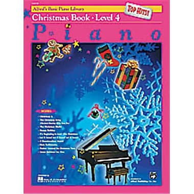 Alfred Basic Piano Course- Top Hits Christmas Book 4 - Music Book (AlFRD40665)