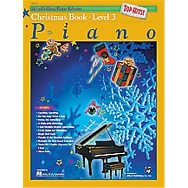 Alfred Basic Piano Course- Top Hits Christmas Book 3 - Music Book (AlFRD40664)