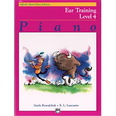 Alfred Basic Piano Course- Ear Training Book 4 - Music Book (AlFRD40796)
