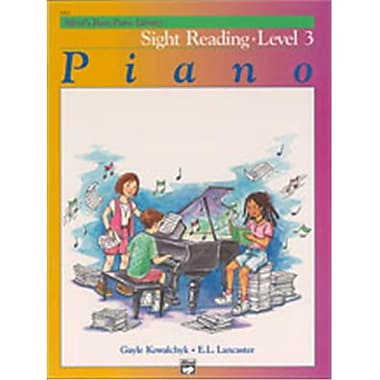 Alfred Basic Piano Course- Sight Reading Book 3 - Music Book (AlFRD40782)