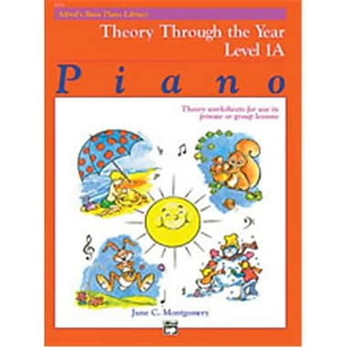 Alfred Basic Piano Course- Theory Through the Year Book 1A - Music Book (AlFRD40778)