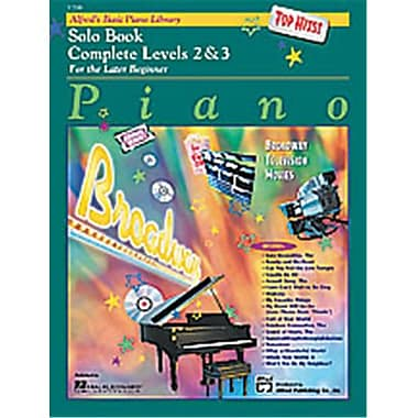 Alfred Basic Piano Course- Top Hits Solo Book Complete 2 and 3 - Music Book (AlFRD40672)