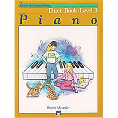 Alfred Basic Piano Course- Duet Book 3 - Music Book (AlFRD40725)