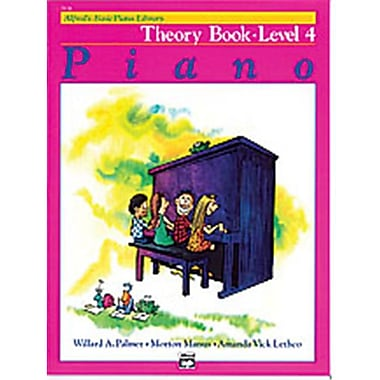 Alfred Basic Piano Course- Theory Book 4 - Music Book (AlFRD40710)