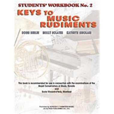 Alfred Keys to Music Rudiments- Students Workbook No. 2 - Music Book (AlFRD48673)