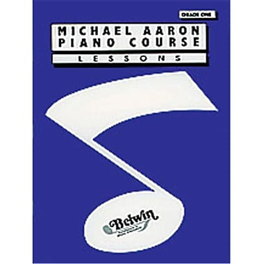 Alfred Michael Aaron Piano Course- lessons- Grade 1 - Music Book (AlFRD40465)