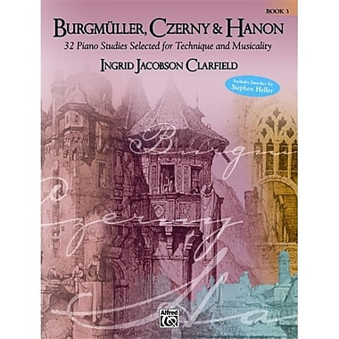 Alfred Burgmller- Czerny and Hanon- Piano Studies Selected for Technique and Musicality- Volume 3 - Music Book (AlFRD42501)