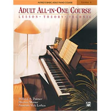Alfred Basic Adult All-in-One Piano Course- Book 1 - Music Book (AlFRD40525)