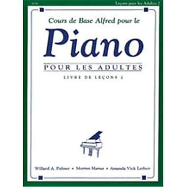 Alfred Basic Adult Piano Course- French Edition lesson Book 2 - Music Book (AlFRD40563)