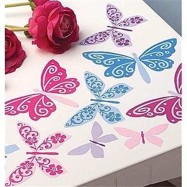 Wallies Wallcoverings Peel and Stick Vinyl Decals Flutterbyes (WlWC065)