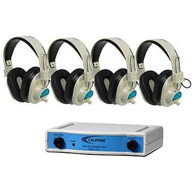 Califone International Frequency Color-Coded 4-Position Wireless listening Center - Blue (CAFI140)