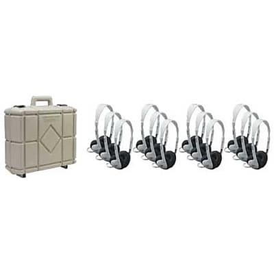 Califone International Set Of Twelve Multimedia Stereo Headphones With Carry Case (CAFI089) 2627052