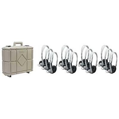 Califone International Set Of Twelve Multimedia Stereo Headphones With Carry Case (CAFI089) 2627052