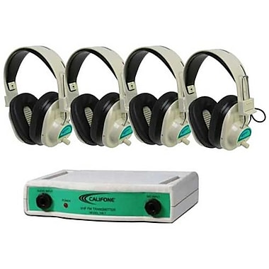 Califone International Frequency Color-Coded 4-Position Wireless listening Center - Green (CAFI144)