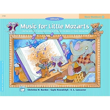 Alfred Music for little Mozarts- Music Workbook 3 - Music Book (AlFRD41480)