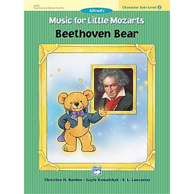 Alfred Music for little Mozarts- Character Solo- Beethoven Bear- level 2 - Music Book (AlFRD41524)