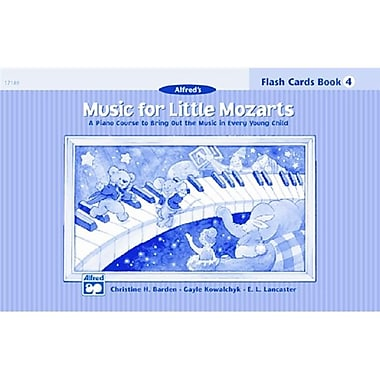 Alfred Music for little Mozarts- Flash Cards- level 4 - Music Book (AlFRD41488)