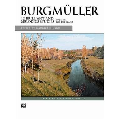 Alfred 12 Brilliant Studies- Op. 105 - Music Book (AlFRD42898)