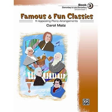 Alfred Famous and Fun Classics- Book 3 - Music Book (AlFRD42375)
