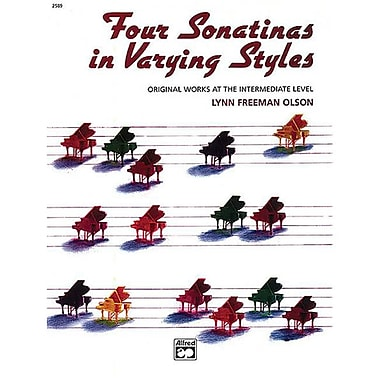 Alfred Four Sonatinas in Varying Styles - Music Book (AlFRD42512)