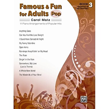 Alfred Famous and Fun for Adults- Pop- Book 3 - Music Book (AlFRD42668)