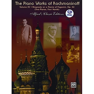 Alfred The Piano Works of Rachmaninoff- Volume xV- Rhapsody on a Theme of Paganini - Music Book (AlFRD44105)